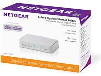 Brand new NETGEAR 5 Port Gigabit Ethernet Desktop Switch