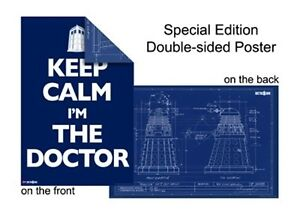 DOCTOR-WHO-POSTER-Dalek-Blueprint-Keep-Calm-Im-The-Doctor-dr-2-sided-NEW