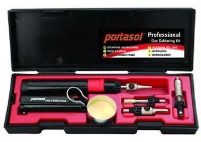 Portasol Professional Butane Gas Catalytic Soldering Iron Tool Kit P-1k