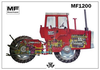 Vintage Massey Ferguson Tractor 1200 1250 A3 Poster Brochure Leaflet Very Rare
