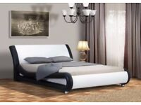Prato Modern Faux Leather 4FT6 Double & 5FT King Size Bed Frame Only