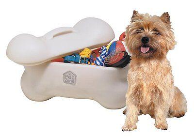 Pet Toy Storage Box Bin Dry Dog Food Little Supplies Daycare Organizer Bones