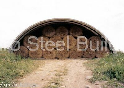 Durospan Steel 51x90x17 Metal Quonset Hut Diy Hay Shed Building Open Ends Direct