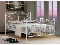 Small Double (4ft) White Metal Bed Frame