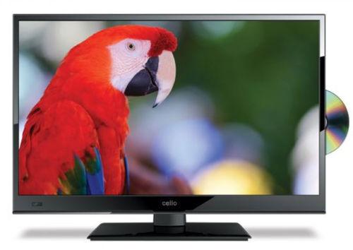 "24"" CELLO C24230F 12v/240 Volt HD Freeview TV W/ DVD USB For Caravan & Motorhome"