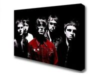 Oasis Champagne Supanova Red On Black n White Iconic Canvas Print Wall Art Picture A1 Size NEW