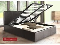 🔲🔳Gas Lift Hydrolic Mechanism🔲🔳 Brand New Double or King Leather Ottoman Storage Gas Lift Up Bed
