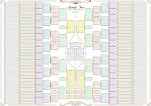 Family-Tree-Chart-10-Generation-bow-tie-chart-in-Pastel-Colours-Rolled