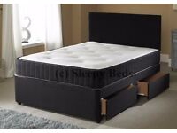 BRAND NEW !! FREE DELIVERY !! DOUBLE DIVAN BASE WITH ORTHOPAEDIC MATTRESS !!
