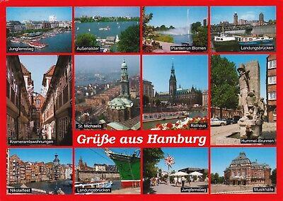 Grüße aus Hamburg , Ansichtskarte 1998 gelaufen