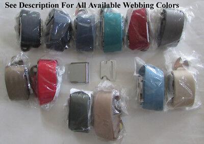 """Retro Vintage 2 Point Seatbelt Chrome Lift Lap Seat Belt - Select Color - 74"""""""