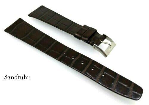 Louisiana Kroko, Uhrenarmband passend für Patek 19/14 mm braun von Bucherer / 76