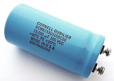 Computer Grade Capacitor 15000uf 100v Dcmx153u100bc2b Cornell Dubilier 1 Piece