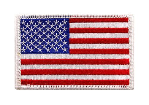 White Border USA Flag