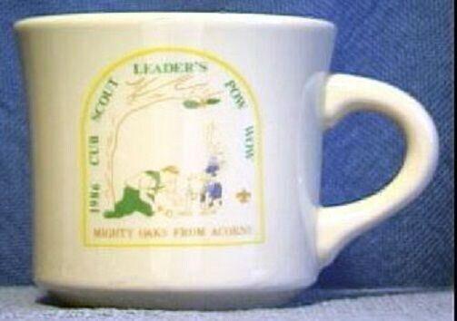 BSA Mug OCC Cub Pow Wow 1986 MIGHTY OAKS FROM ACORNS