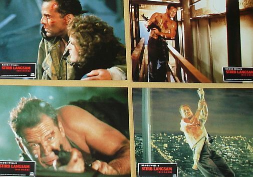 DIE HARD - Lobby Cards Set - Bruce Willis, John McTiernan, Alan Rickman