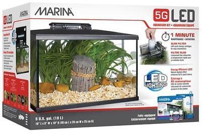 Marina LED Glass Aquarium Kit, 5 Gallon **FREE SHIPPING**