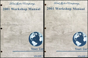 2001 lincoln town car factory repair shop manual set. Black Bedroom Furniture Sets. Home Design Ideas
