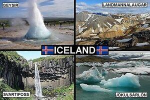 SOUVENIR FRIDGE MAGNET of ICELAND
