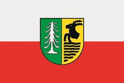 Hof Flagge (Fahne Flagge Oberhof 20 x 30 cm Bootsflagge Premiumqualität)