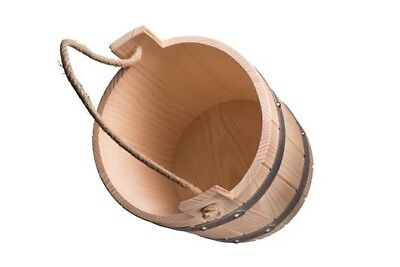 Sauna pail Infusion bucket Pouring XL mit Cord grip and Wood floor 9ltr