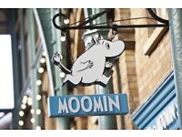 Part-time Sales Assistant at THE MOOMIN SHOP, Covent Garden, Central London