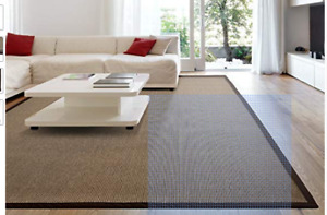Contemporary Synthetic Sisal Rug with Soft Backing