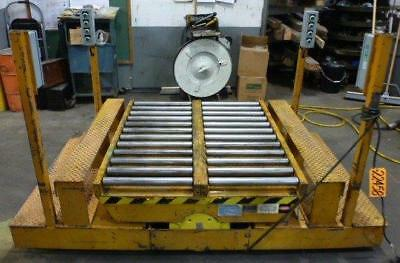 3000 Lb. Ecoa Traveling Lift Table 44 X 48 Plaform Wrollers 55 R 22458