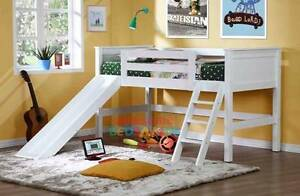 Kids midi/loft sleeper king single bed with slide New Lambton Heights Newcastle Area Preview