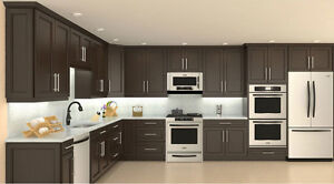 SOLID WOOD KITCHEN CABINETRY AND VANITY WASHROOM ALL IN ONE PLAC