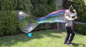 BUBBLE MAKER WAND, BUBBLE STICK-BLOW HUGE GIANT SOAP BUBBLES,EASY. J,b,bubbles