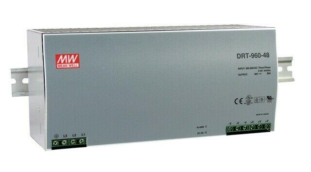 NEW~ Mean Well DRT-960-24 AC to DC DIN-Rail Power Supply 24 Volt 40 Amp 960 Watt