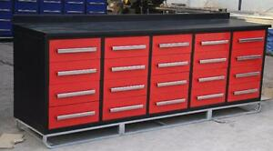 New 20 Drawer Tool Box 10 RED Model Bench Storage Work Garage