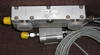 Varian Turbo Pump Purge-vent Valve With Flow Meter Model 9699