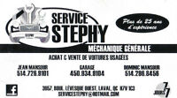 Station Service Stephy ! Ouvert FDS 514-296-8456 ** 514-296-8456