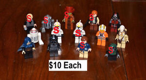 Star Wars Lego Minifigures Excellent Condition - $4 - $10 each