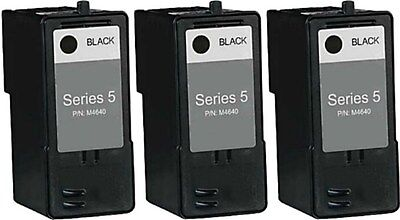 3-pk For Dell Series 5 J5566 Black Ink Cartridge for 946 962 964 Printers Dell 964 Printer Ink