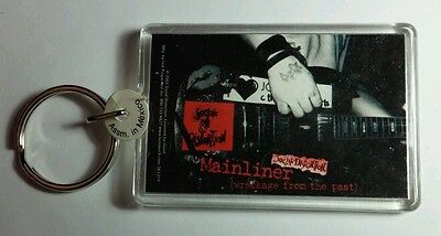 AS-IS SOCIAL DISTORTION MAINLINER GUITAR TATTOOED HAND B&W  KEY CHAIN KEYCHAIN