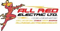ALL RED ELECTRIC LTD. 1 YEAR WARRANTY  Master Electrician's $65