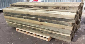 🌳Timber/Wooden Treated Posts 150mm X 75mm X 2100mm🌲