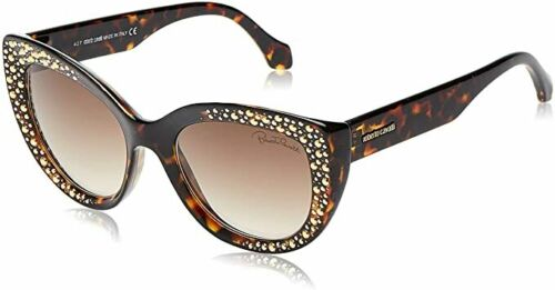 Roberto Cavalli RC 1050 Chitignano 52G Tortoise Plastic Sunglasses 54-20-135 New