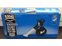 Mac Allister MBV 3000W Electric Garden Leaf Blower Vacuum