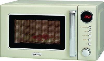 CLATRONIC Retro-Mikrowelle+Grill+Uhr Nostalgie-Design Mikrowellenherd+Timer Neu