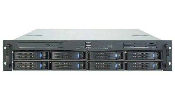 Chenbro 2u 8 HDD Hotswap Rack Mount Server Case Sas823t Fans Power Supply