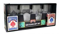 Verres Bicycle Bar Glass Set - 2 Paqs/Decks of Cards-poker