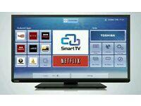 "TOSHIBA 40"" LED smart tv Wi-Fi built USB MEDIA PLAYER HD"