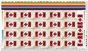 2015 Canada 50th Anniversary of the Canadian Flag Uncut Sheet