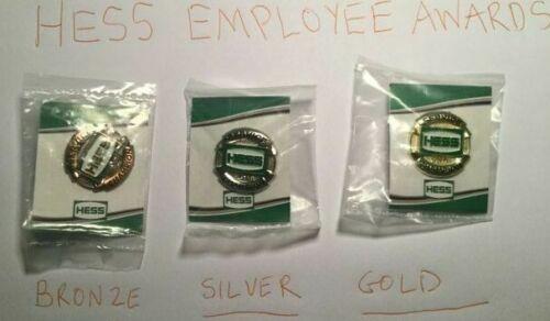 AMERADA HESS RARE EMPLOYEE AWARD PINS(GOLD,SILVER,BRONZE)2020 GIFT IDEA TRUCK