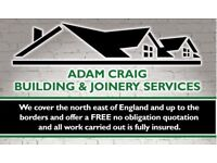 Building & joinery services fencing & decking windows extension's 1st fix 2nd fix