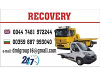24/7 Emergency Recovery & Vehicle Transportation service 07481972244 Any where any time